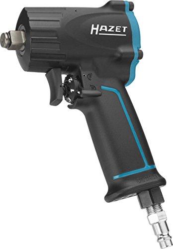 HAZET Druckluft-Schlagschrauber (extra kurz (92 mm) I max. Lösemoment 1100Nm, Vierkant 12,5 mm (1/2 Zoll), empfohlenes Drehmoment 610 Nm, Jumbo Hammer-Schlagwerk) 9012M