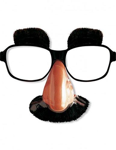 Occhiali con naso baffi sopracciglia
