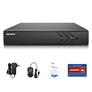 ANNKE 8-Channel HD 1080P Lite Home Smart Recording Security DVR Surveillance Video Recorder for CCTV Camera, Motion Detection, Email Alert, QR Code Scan Quick Remote Access View