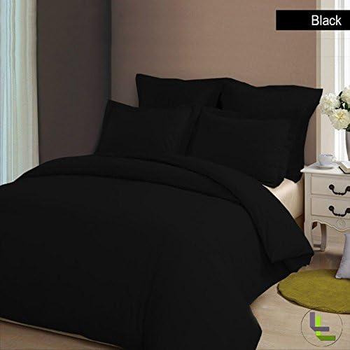 Sheets&More New 550TC 8PC 8PC 550TC Completo Set da Letto – -Nero Solido UK Euro King 100% Cotone Egiziano Extra Tasca Profonda (24 Pollici) spedizione Gratuita 082612
