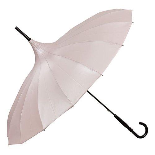 VON LILIENFELD Regenschirm Damen Sonnenschirm Brautschirm Hochzeitsschirm Pagode Cécile puderrosa metallic