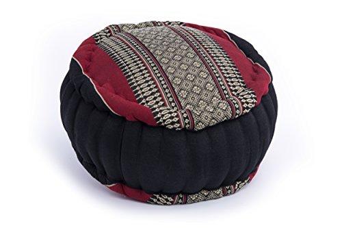 Coussin de Méditation Zafu circulaire 35x20 (noir-rouge)