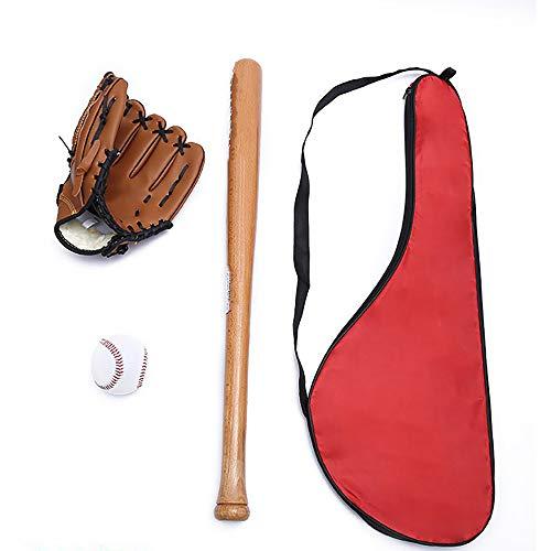 ZRK Baseball Kit Traditionelle Gartenspiele Bat Ball und Handschuhe Selbstverteidigung Outdoor-Sportarten Alle Offiziellen Größen für Anfänger und Profisportler -