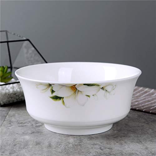 Keramikschale Desktop Dekoration Nudel Reissuppe Besteck Snack Dessert Tray Lily 20x7,5 cm Lily Dessert