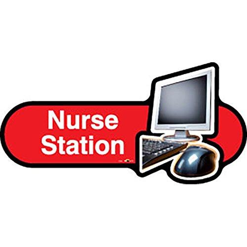 Krankenschwestern Station (Demenz Freundlicher Krankenschwester Station–Red Sign 300mm breit)