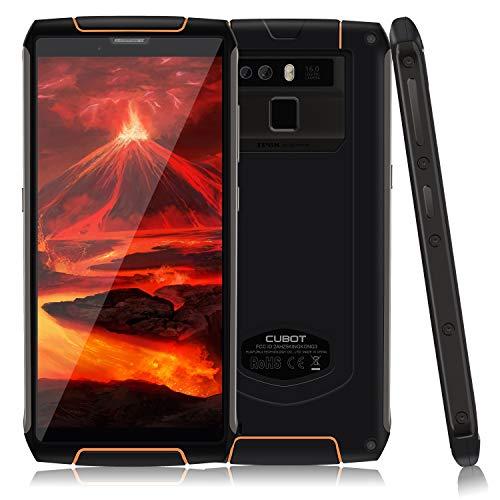 Cubot Kingkong 3 Outdoor Smartphone ohne Vertrag Android 8.1 IP68 Wasserdicht, Stoßfest und Staubdicht Dual SIM 6000 mAh Akku, GPS+Kompass, 4GB+64GB, 5,5 Zoll Display, WiFi, Bluetooth, Schwarz