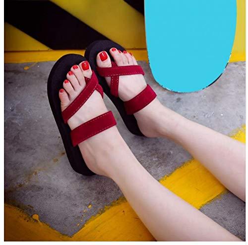 QIMITE Fascitis Plantar la Mujer Zapatillas Zapatillas Sandalia de Playa de Verano al Aire Libre Anti-Skid...