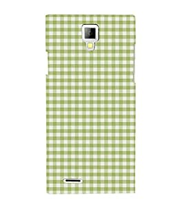 Green Checks Pattern 3D Hard Polycarbonate Designer Back Case Cover for Micromax Canvas Xpress A99