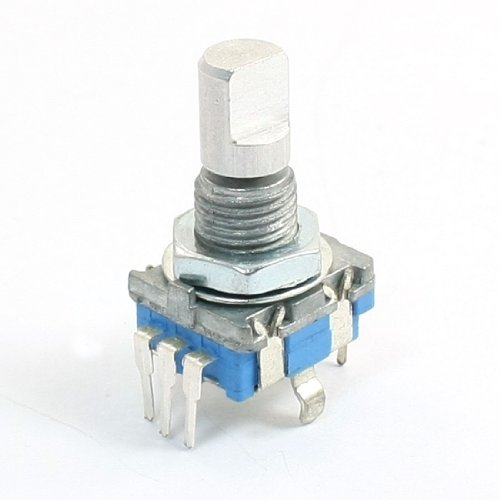 5-Pin D Schaft 20 Nummern Detents 360 Grad Rotary Encoder w Push Button de 12 Position Rotary Switch