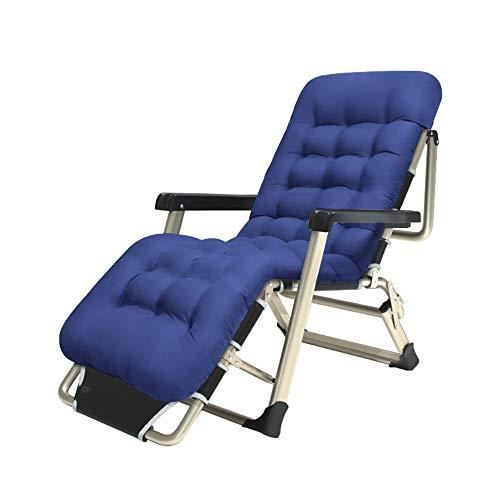 Liegestuhl Faltbarer Siesta Nickerchen Bett Freizeit Stuhl Tragbarer Garten Lounge Stuhl Blau Sonnenliege Outdoor Strandkorb Lagergewicht 150kg GW -