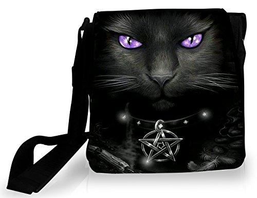 FS - Sacoche Chat pentacle magie noire