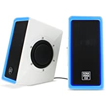 GOgroove O2i Altoparlanti per Computer USB PC Speakers con Luci a LED Blu e Doppio Driver Funziona con PC , Apple MAC , ASUS , Acer , Dell , HP, Lenovo e altri