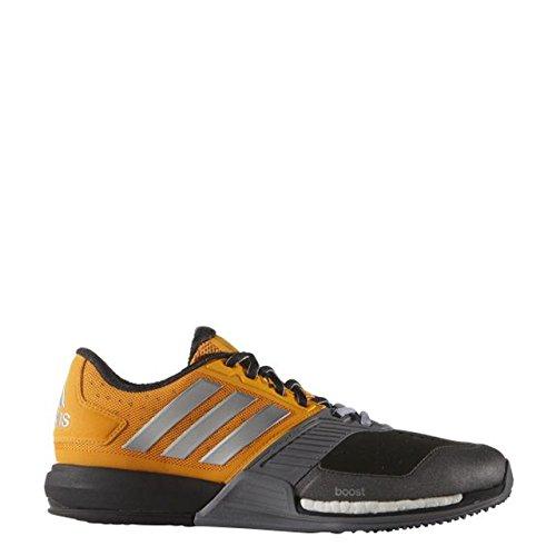 adidas Crazytrain Boost, Chaussures de Running Entrainement Homme Multicolore - Naranja / Plateado / Gris (Eqtnar / Plamat / Gris)
