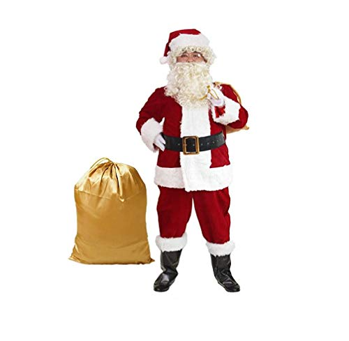 Unbekannt Men Es Deluxe Santa Suit 10Pc, Christmas Adult Santa Claus Kostüm, Santa Suit Adults Men XXXL,XL
