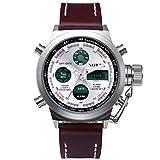 Fenkoo Herren Sportuhr / Armbanduhr digital / Japanischer QuartzLED / Kalender / Wasserdicht / Duale Zeitzonen / Alarm / Stopuhr / Nachts