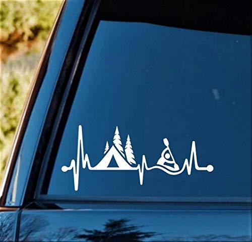 Cycay C1162 Aufkleber für Zelt, Kajak, Herzschlag Lifeline, Aufkleber für Kanu, Wohnmobil, Anhänger -