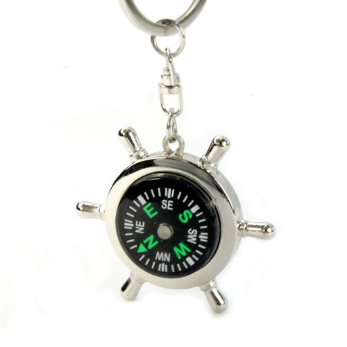 ouneed-new-portable-alloy-silver-nautical-compass-keychain-ring-chain-gift