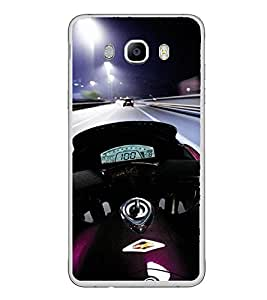 PrintVisa Designer Back Case Cover for Samsung Galaxy On8 Sm-J710Fn/Df (Sports Bike Motor Cycle Ride Night Light)