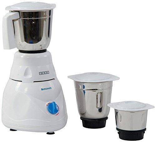 Usha Smash Mixer Grinder (MG-2853) 500-Watt 3 Jars (White)