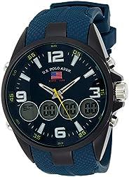 U.S. Polo Assn. Men's Quartz Watch, Analog-Digital Display and Rubber Strap US