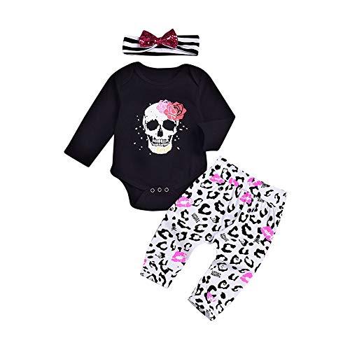 PerGrate Kinder Kinder Bodysuit Jumpsuit Langarm Stirnband Hose Outfit Fashion Für Halloween (Fashion Halloween Outfits)