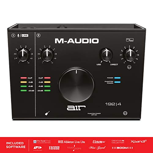 M-Audio AIR 192 | 4 - 2-in-2-out-USB-Audio-Interface mit ProTools und Ableton Live Record-ing-Software mit Studio-Effekten und virtuellen Instrumenten