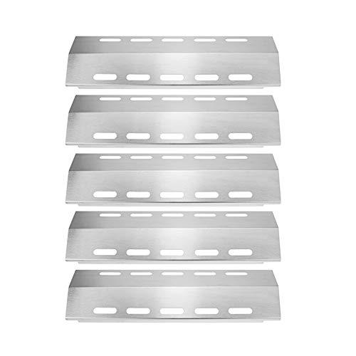 Bar.b.q.s 30500701/30500097 (5-Pack) Edelstahl-Wärmeplatte, Wärmezelt, Ersatz für ausgewählte D UC A 5 zu brennen, während Gas-Grill-Modelle (428,6 130,2 kleine Mutter) -