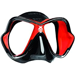Masque de plongée Mares X-Vision LiquidSkin, schwarz/rot/schwarz