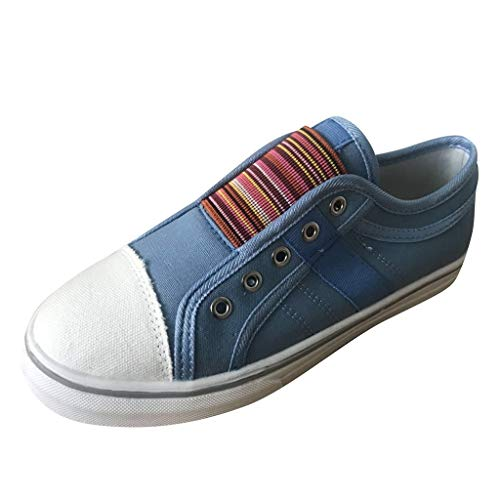 Bluestercool Scarpe da Donna Rotondo Punta Casual Sneakers Elastico Outdoor Estive Casual Mocassini Zeppa