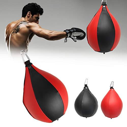 Pinkfishs Boxgeschwindigkeits-Ball-Rack Hangeball Sanda Equipment Training Boxing Speed Bag Box-Tasche - Rot