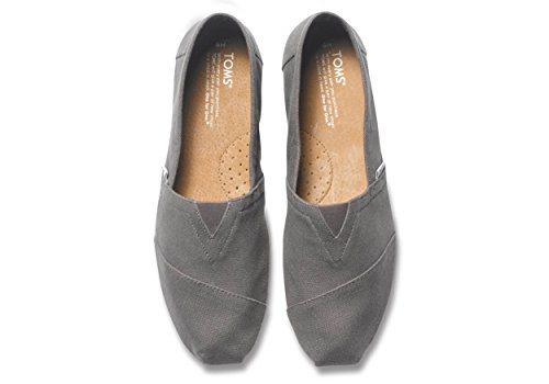 Toms Mens Alpargata Canvas Ankle-High Flat Shoe Ash White