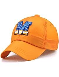 Roffatide Bordado Gorra de Béisbol Niños Sombrero de Sol Niñas Visera de Verano de Secado Rápido 7 Colores