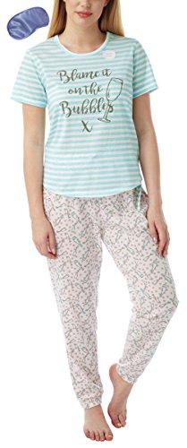 i-smalls Ltd -  Camicia da notte  - Maniche corte  - Donna Aqua