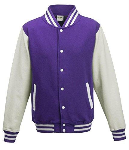 AWDis JH043MOXN/BURM, Giacca Uomo Violett - Purple / White