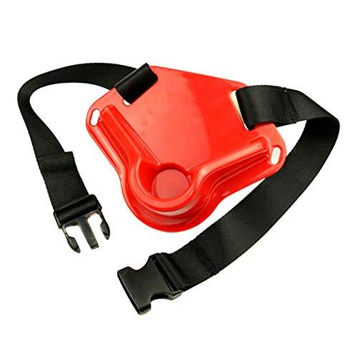 WINLISTING Taille kardanisch kämpfender Fischen-Gurt-Fisch-Rod-Halter-justierbarer Pfosten-Gerät (Rot, F) - Boot Für Fisch-rod-halter