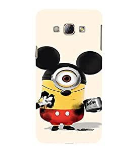EPICCASE Mickey Sytled Minion Mobile Back Case Cover For Samsung Galaxy A8 (Designer Case)