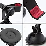Aryshaa Car Mobile Phone Holder, Mobile Mount for Dashboard   Windshield in Black. Pack of 1