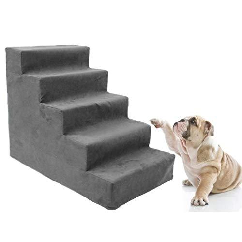 BTPDIAN Upgrade 5 Hundeschritthöhe Bett, alle Schaum Haustier Treppe Tier Rampe Leiter Haustier Leiter Treppe 5 Level Hundeschwamm Trampolin Rampe für Kätzchen Hund bis zu 22 Pfund