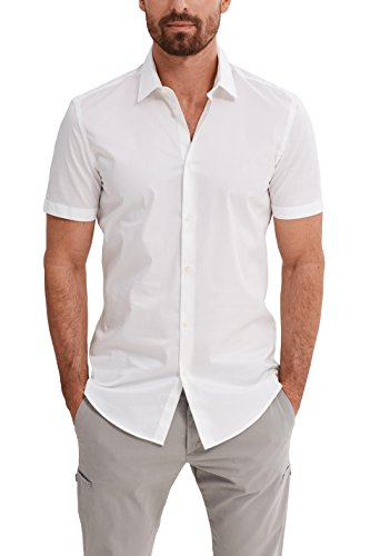 ESPRIT Collection Herren Business Hemd 047EO2F007, Weiß (White 100), Kragenweite: 43 cm (Herstellergröße: 43-44)