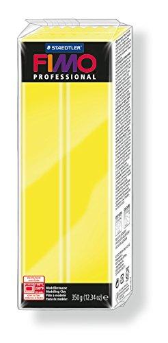 Staedtler 8001-1 - Pasta per modellare Fimo professional, 350 g, zitronencolore giallo