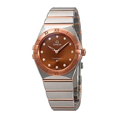 Omega Constellation Manhattan Sun-Brushed Brown Diamond Dial 131.20.28.60.63.001 - Orologio da donna