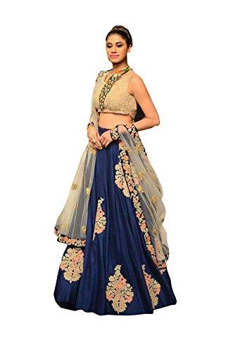 FebForrest Women\'s Blue Banglory Designer Lahenga Choli [SL 25(FF_Y1)]
