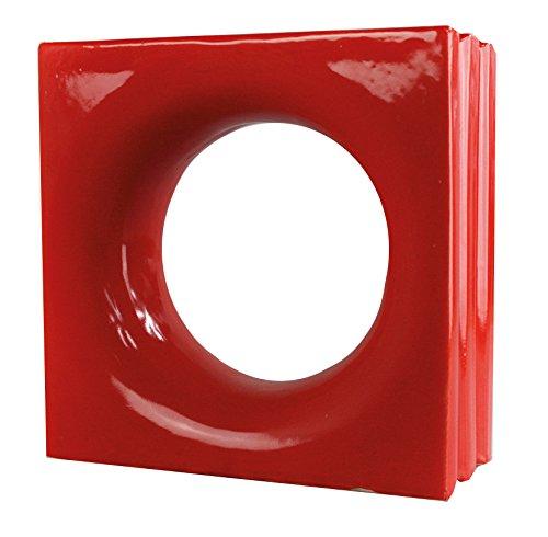 6 Stück Style'n Art Deko Idee Loop Rot 19x19x8 cm - 2