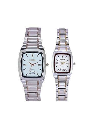 Faleda P6157TTW-DATE Standred Analog Watch For Couple
