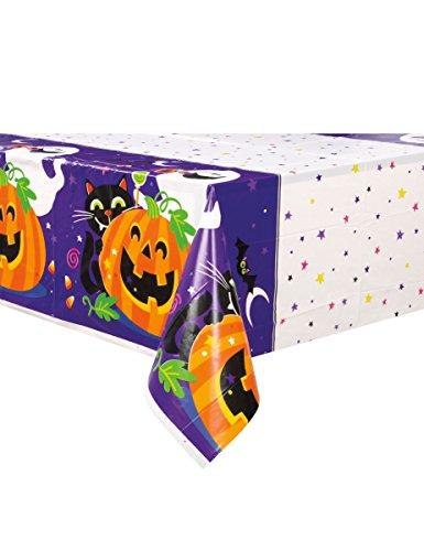 Generique - Tischdecke aus Plastik für Halloween Kürbis und Co. 213 x 137 cm