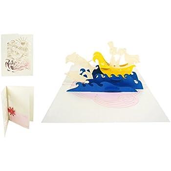 Couple Flamingo 046 Carte Flamingo 3D pop up damour anniversaire La Saint Valentin