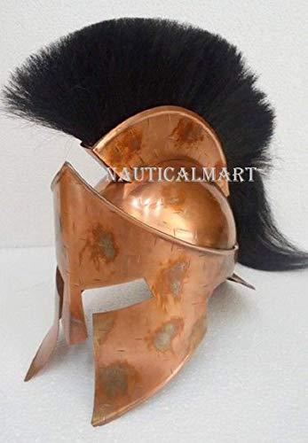 CalvinNautical 300 King Leonidas Spartan Helm Warrior Kostüm Mittelalterlicher Helm Liner SCA Geschenk | Mittelalterlicher Helm | Maske Partyhelm|