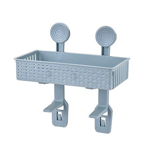 OUNONA Panier Ventouse de Salle de bains Toilette étagère rack (Bleu)