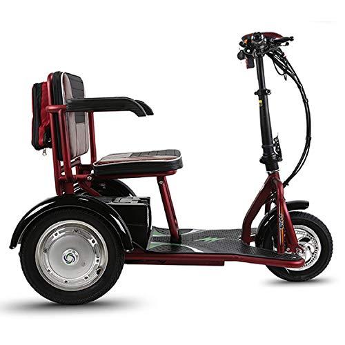 PinkDreamland Erwachsener elektrischer dreirädriger Klapproller mit Einer Reichweite von 18 Meilen für ältere oder behinderte Menschen