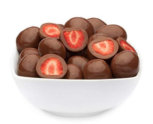 CrackersCompany \'Brown Strawberry\' (1 x 600g in Membrandose groß) Ganze Erdbeeren in Vollmilchschokolade - Schonend getrocknete Erdbeeren in zarter Vollmilchschokolade.